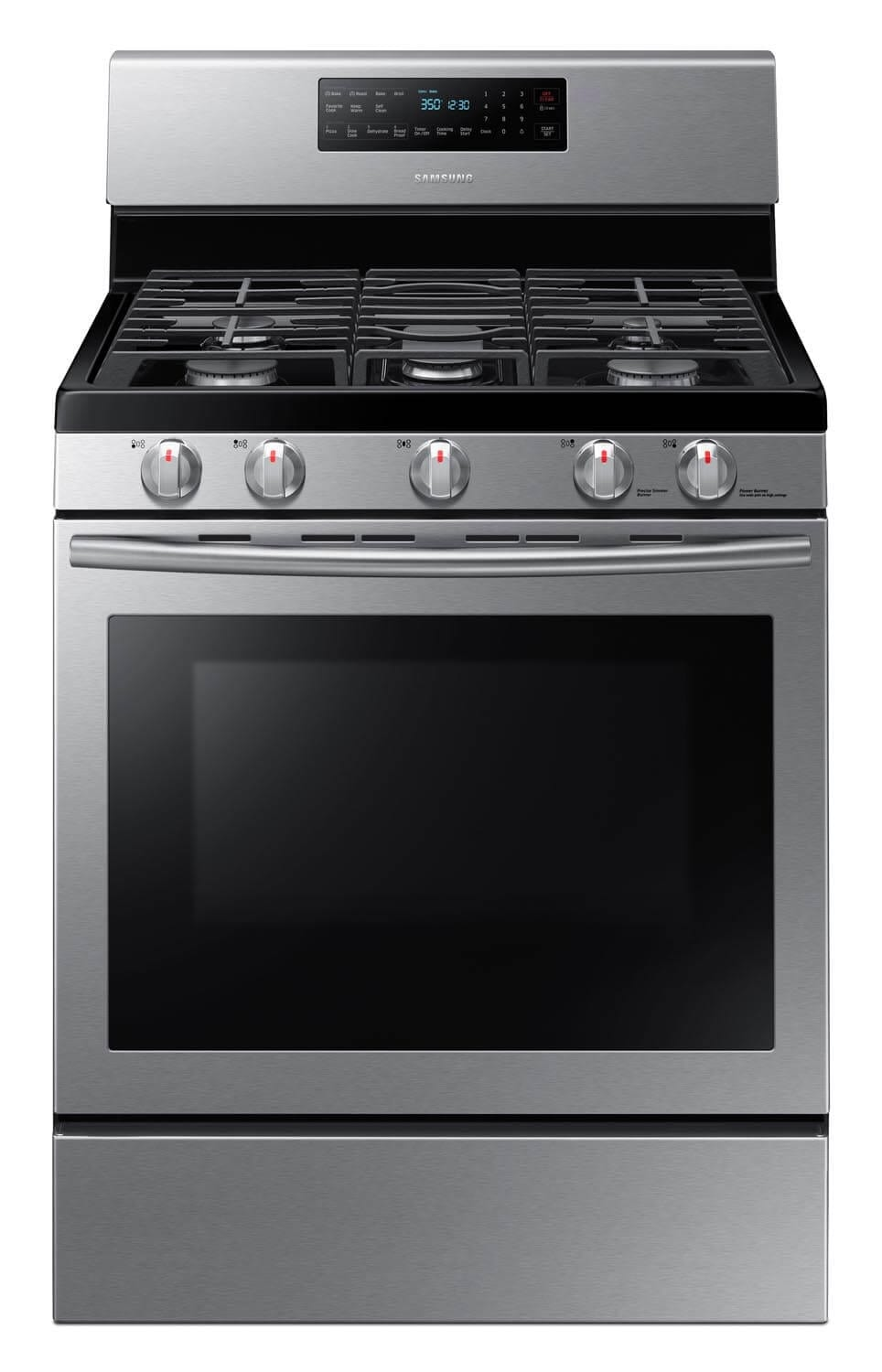 Samsung Stainless Steel Freestanding Gas Range (5.8 Cu. Ft.) - NX58H5600SS