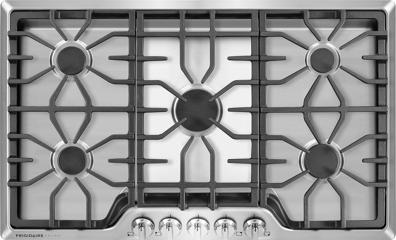 "Cooking Products - Frigidaire Gallery 36"" Gas Cooktop – Stainless Steel"
