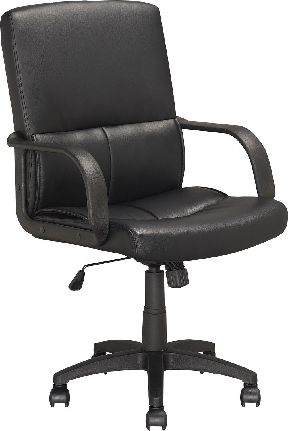 Home Office Furniture - Dunham Black Leatherette Managerial Office Chair