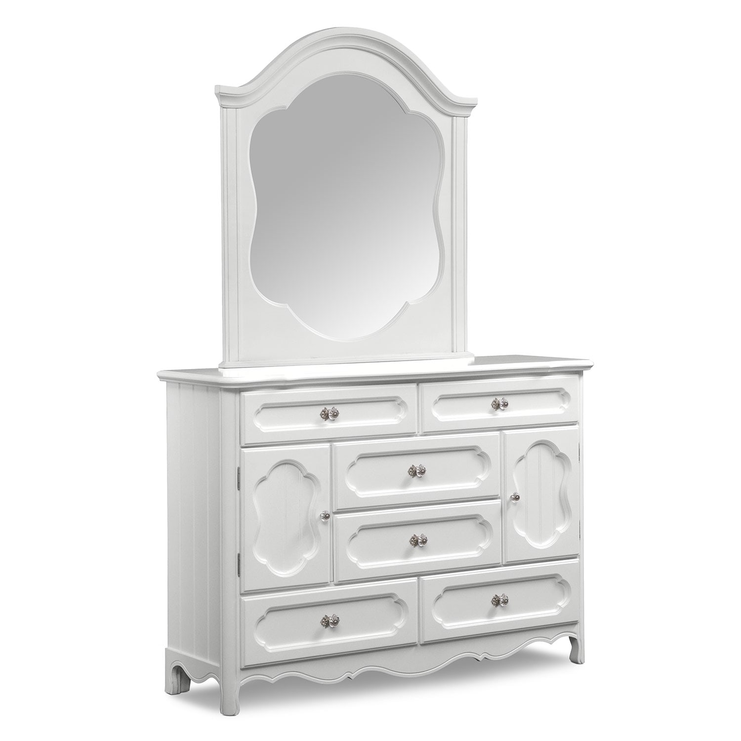 Carly Dresser And Mirror White Value City Furniture