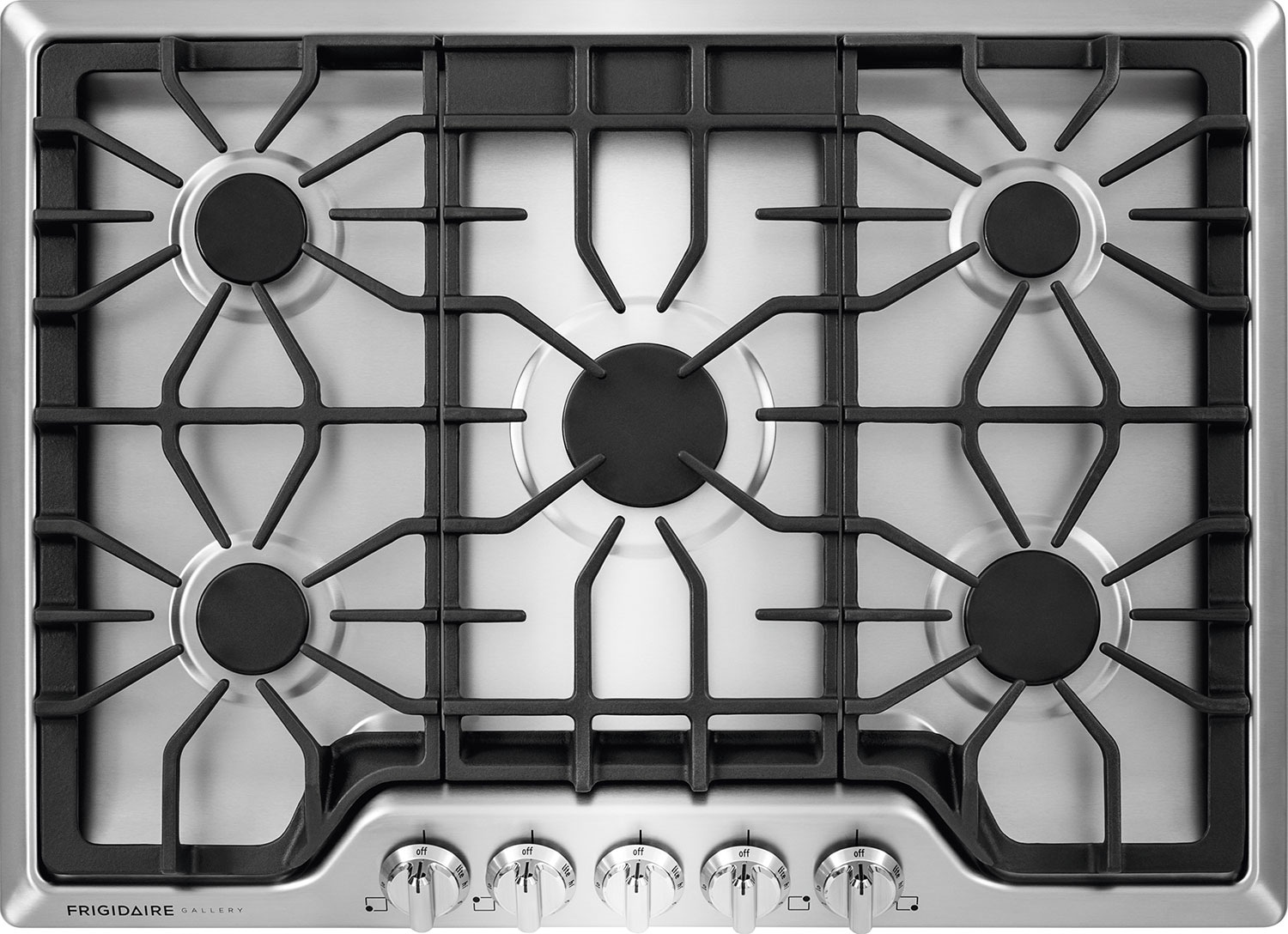 "Cooking Products - Frigidaire Gallery 30"" 5-Burner Gas Cooktop – Stainless Steel"