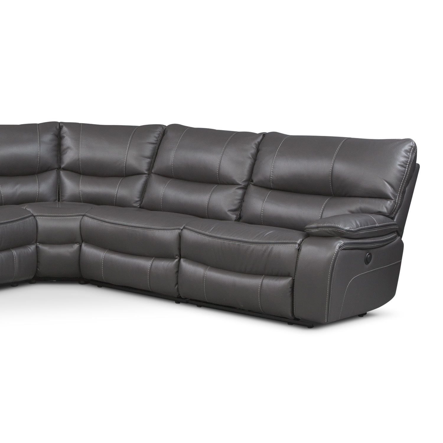 Midori 6 Pc Leather Power Reclining Sectional Sofa: Orlando 6-Piece Power Reclining Sectional With 2