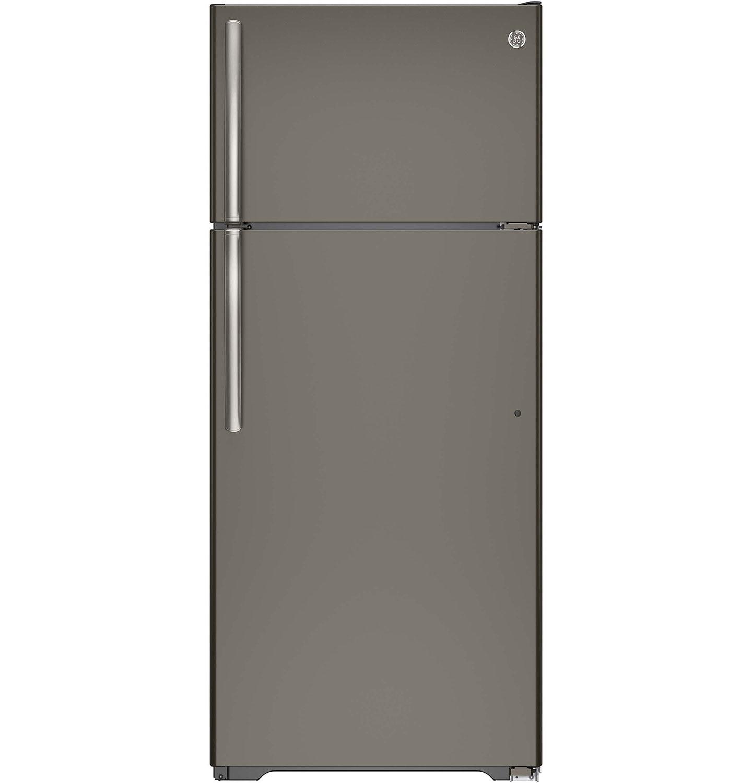 ... and Freezers - GE 17.5 Cu. Ft. Top-Freezer Refrigerator - Slate