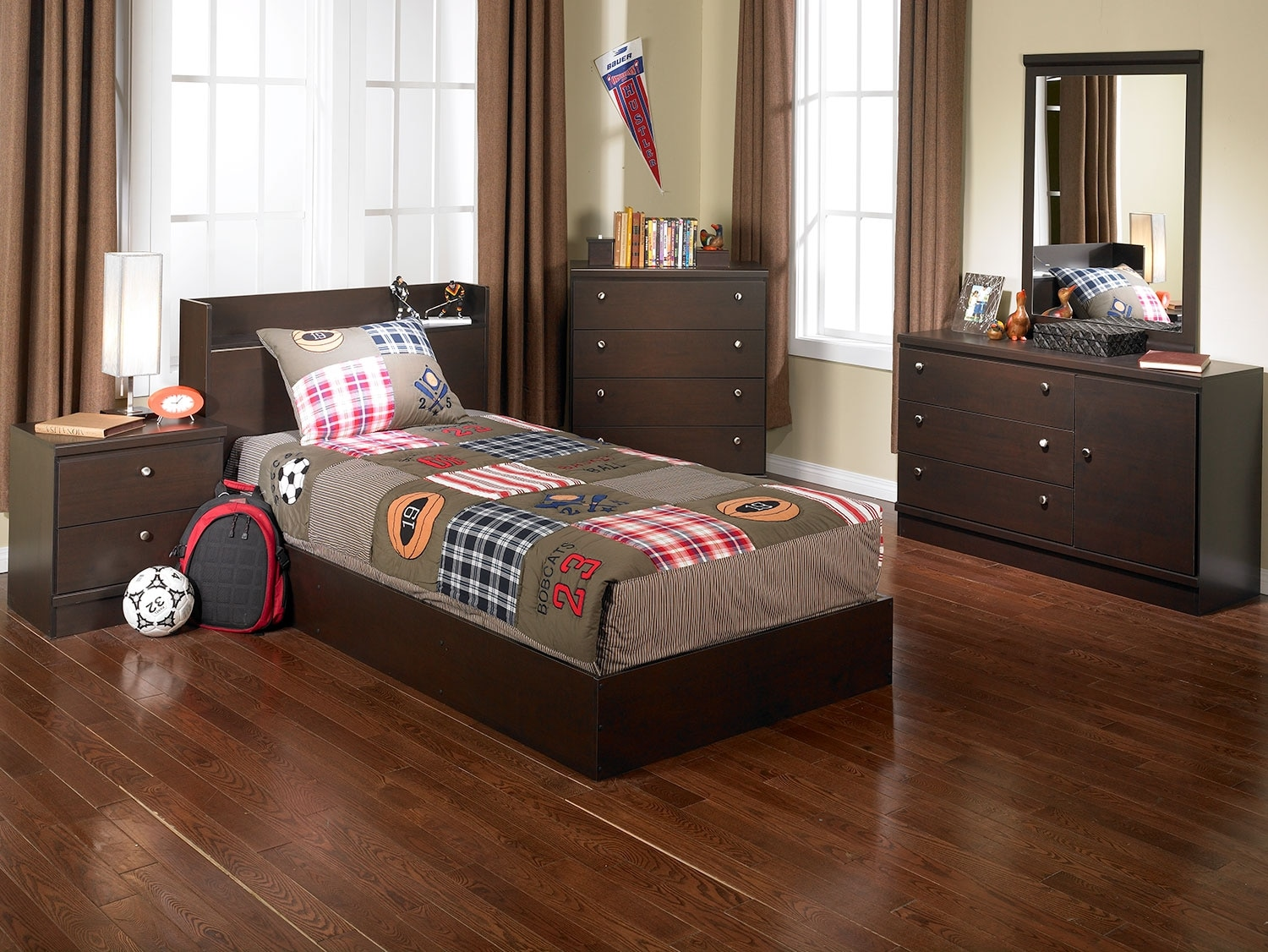 Kids Furniture - Big League 4-Piece Bedroom Package
