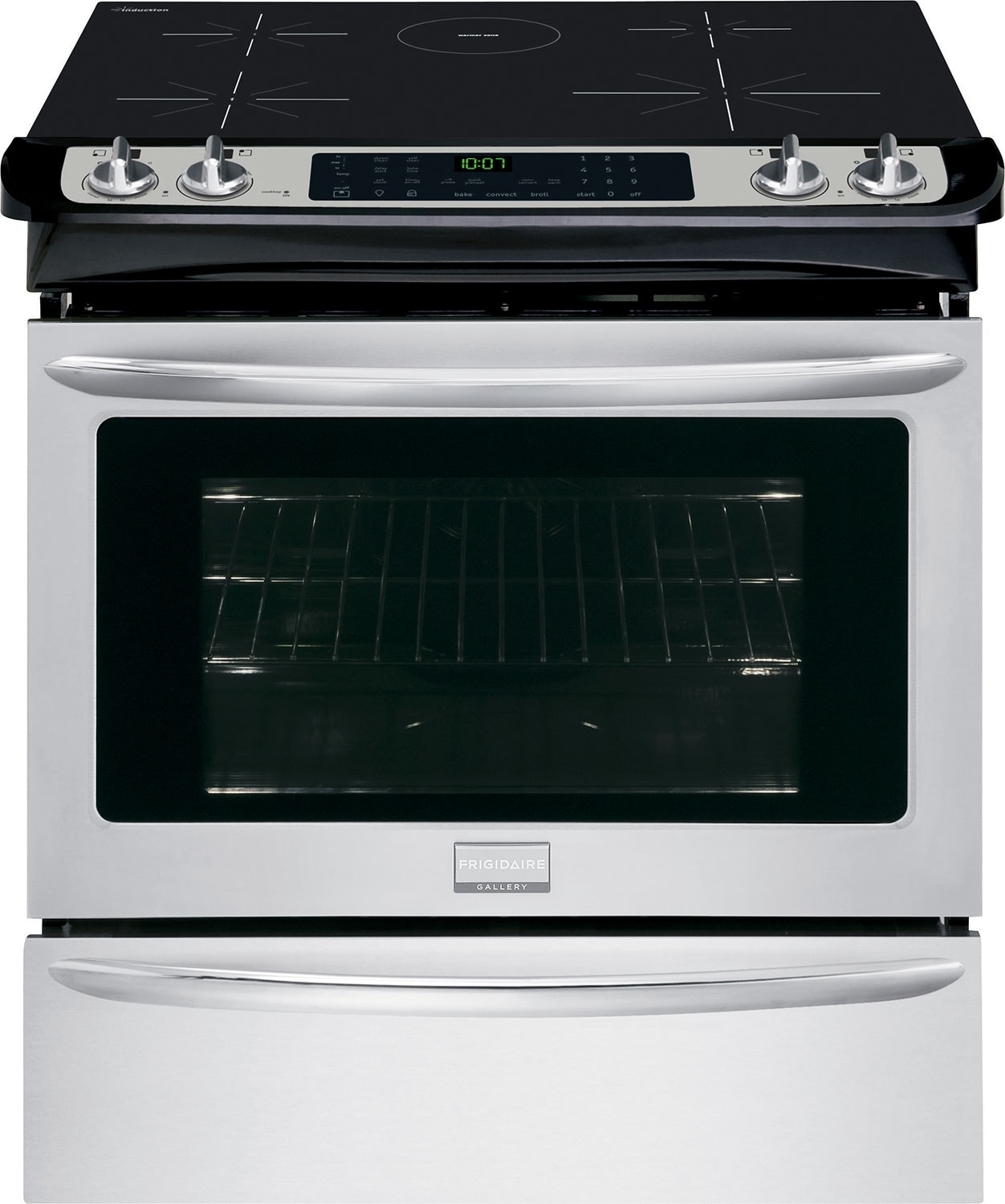 "Cooking Products - Frigidaire Gallery 30"" 4.6 Cu. Ft. Slide-In Induction Range - Stainless Steel"