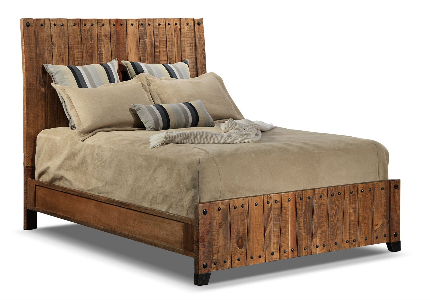 Maya Queen Bed - Rustic Pine