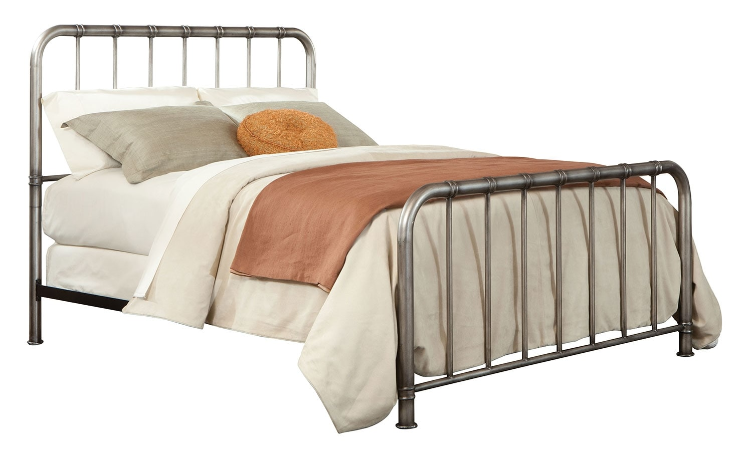Tristan Queen Metal Bed