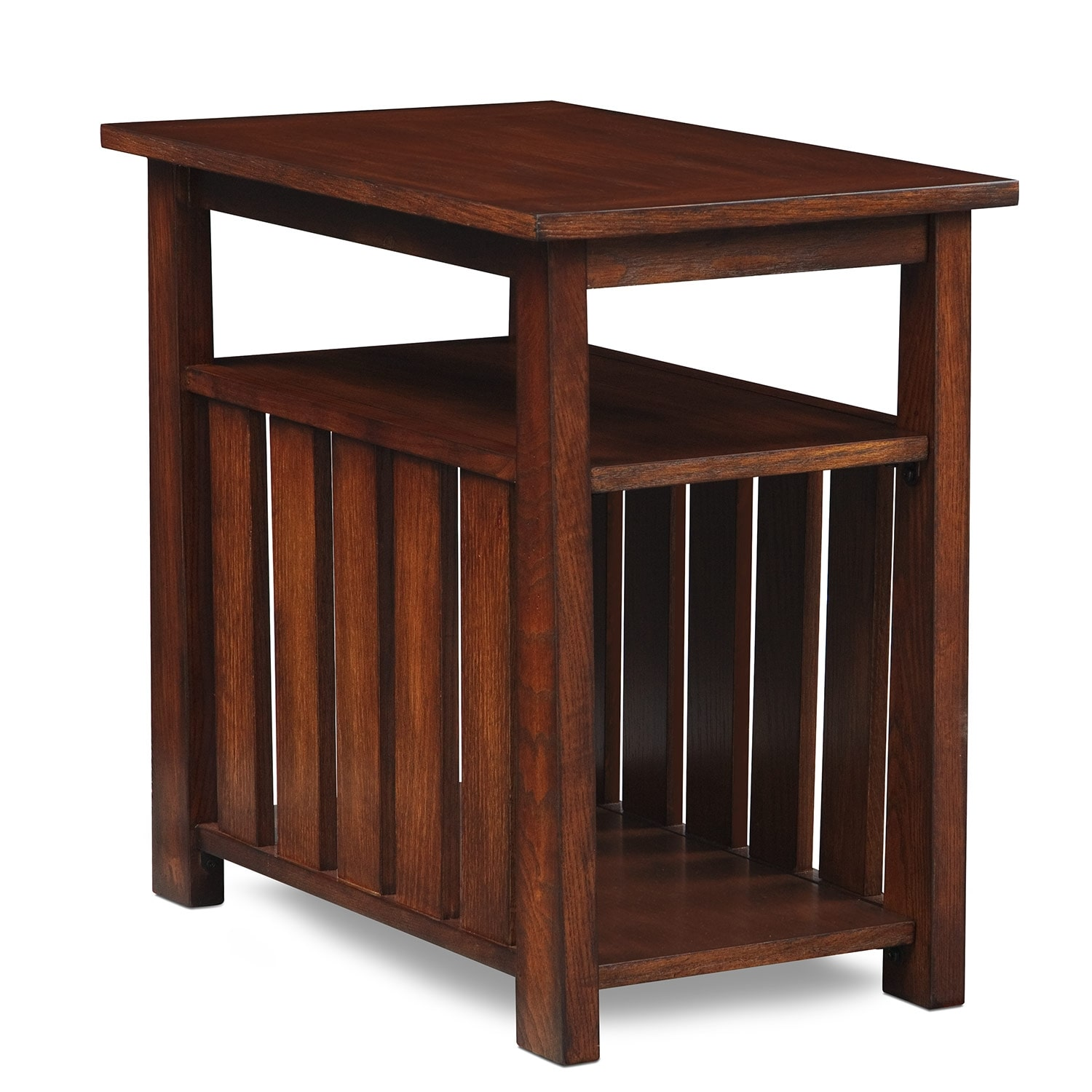 Tribute sofa table cherry value city furniture for Sofa table cherry