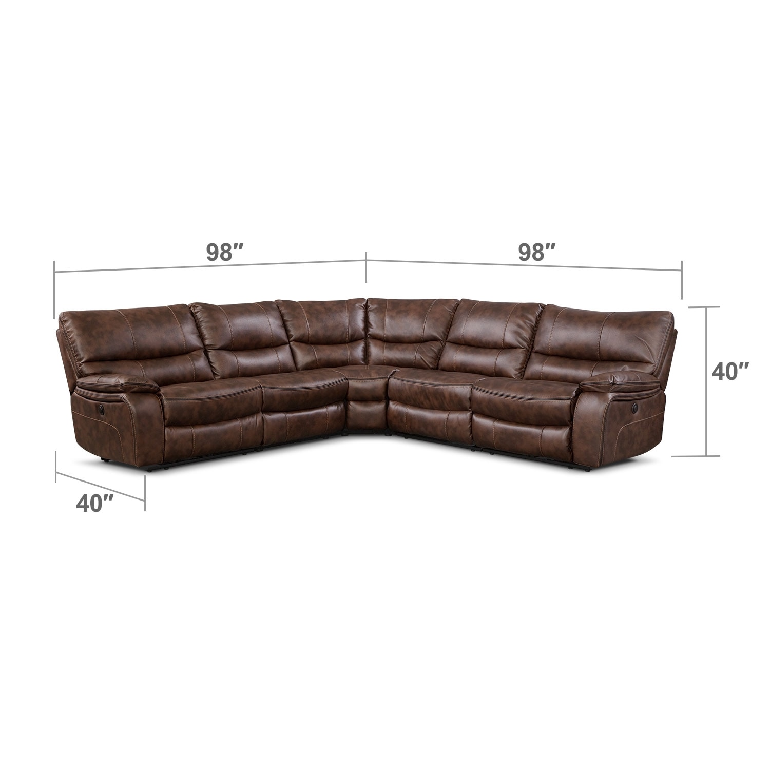 Orlando II 5 Pc. Power Reclining Sectional : Value City Furniture