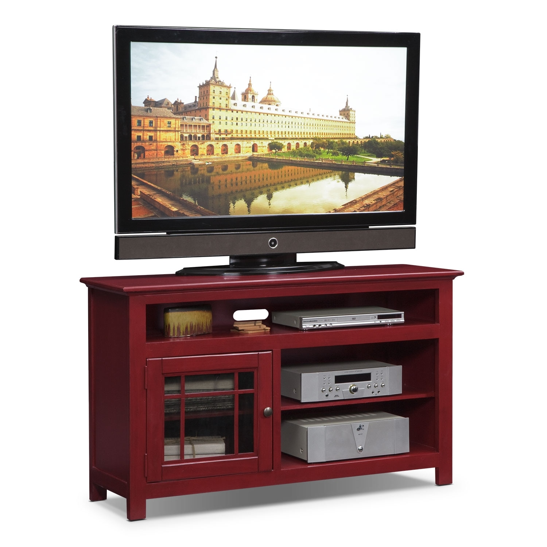 """[Merrick Red 54"""" TV Stand]"""