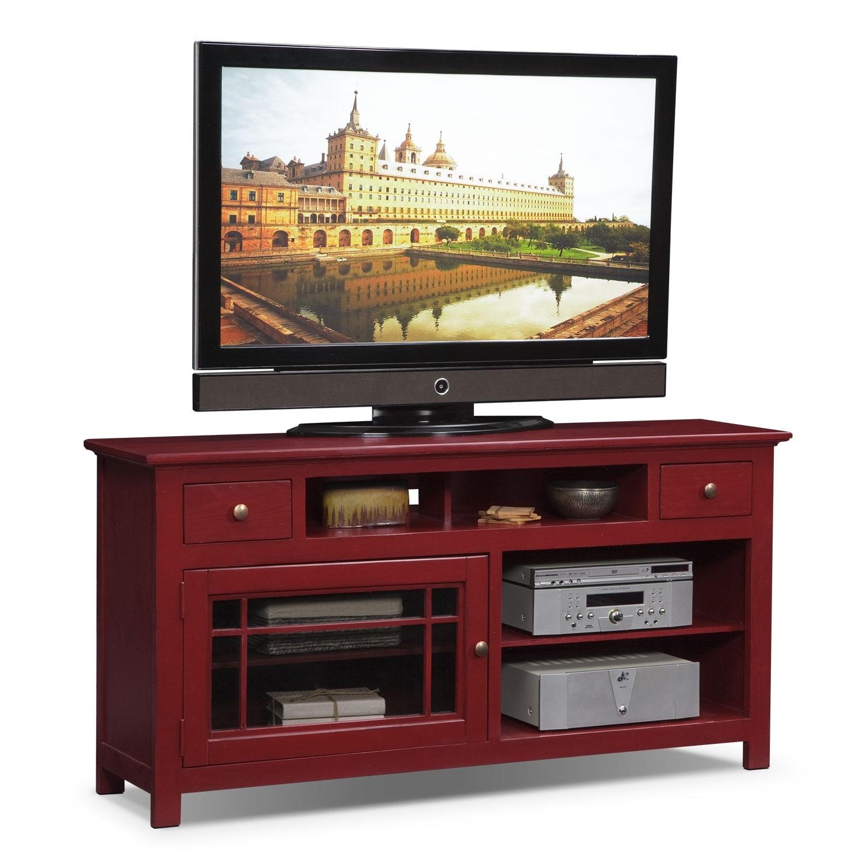merrick red 64 tv stand american signature furniture
