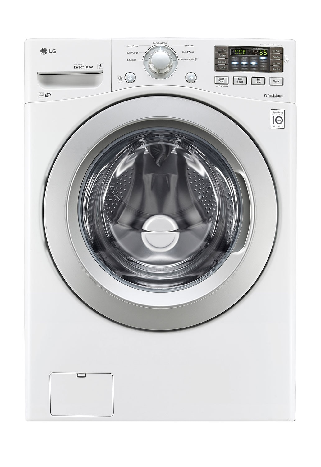 Washers and Dryers - LG 5.0 Cu. Ft. Ultra-Large Capacity Front-Load Washer with 6Motion™ Technology – White