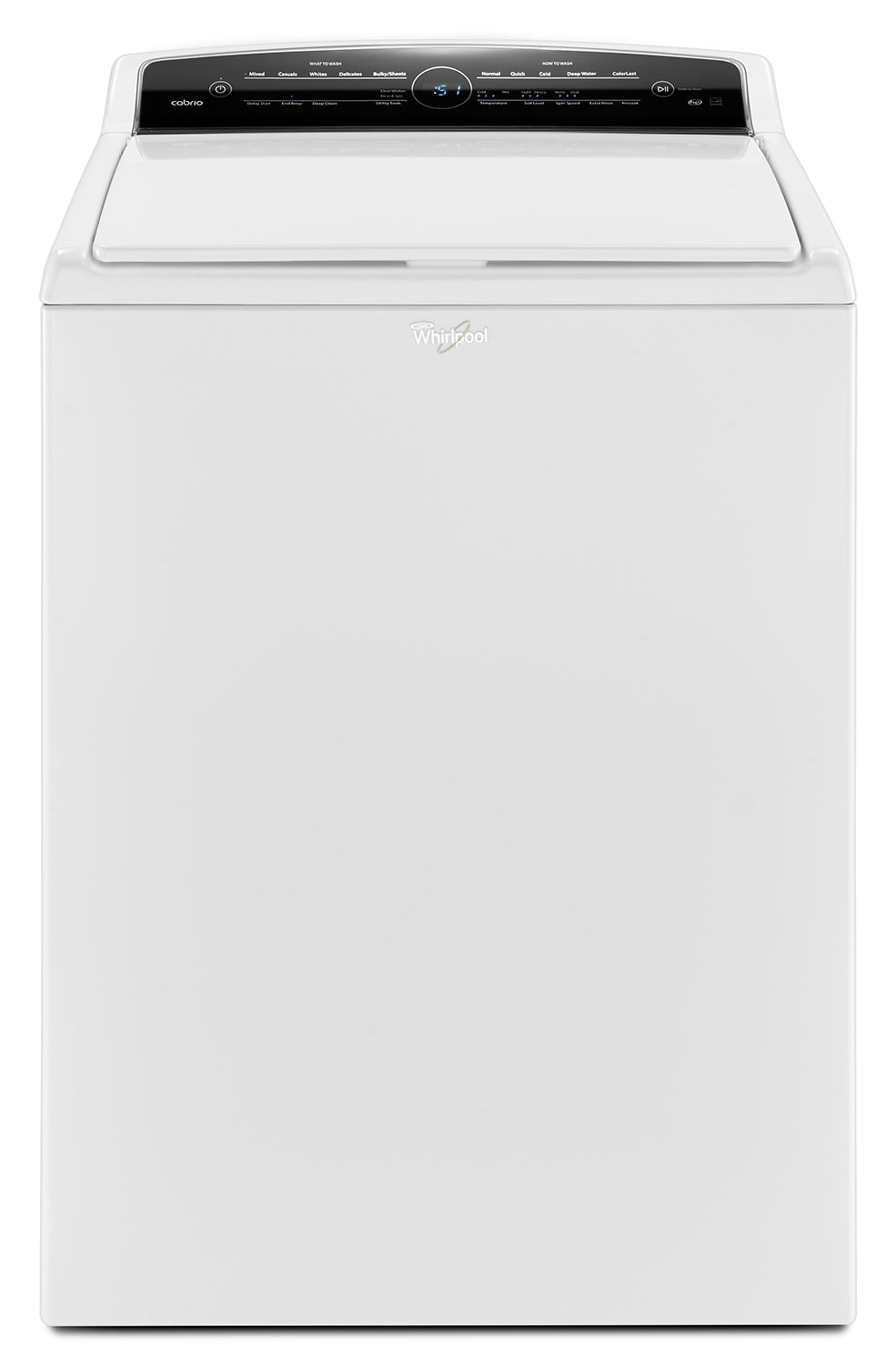 Washers and Dryers - Whirlpool® 5.5 Cu. Ft. Cabrio® High-Efficiency Top-Load Washer – White