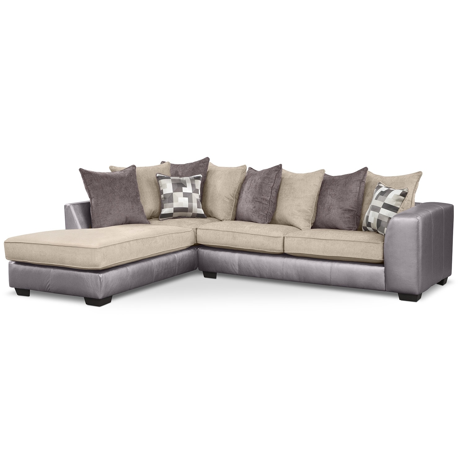 [Montero II 2 Pc. Sectional (Reverse)]