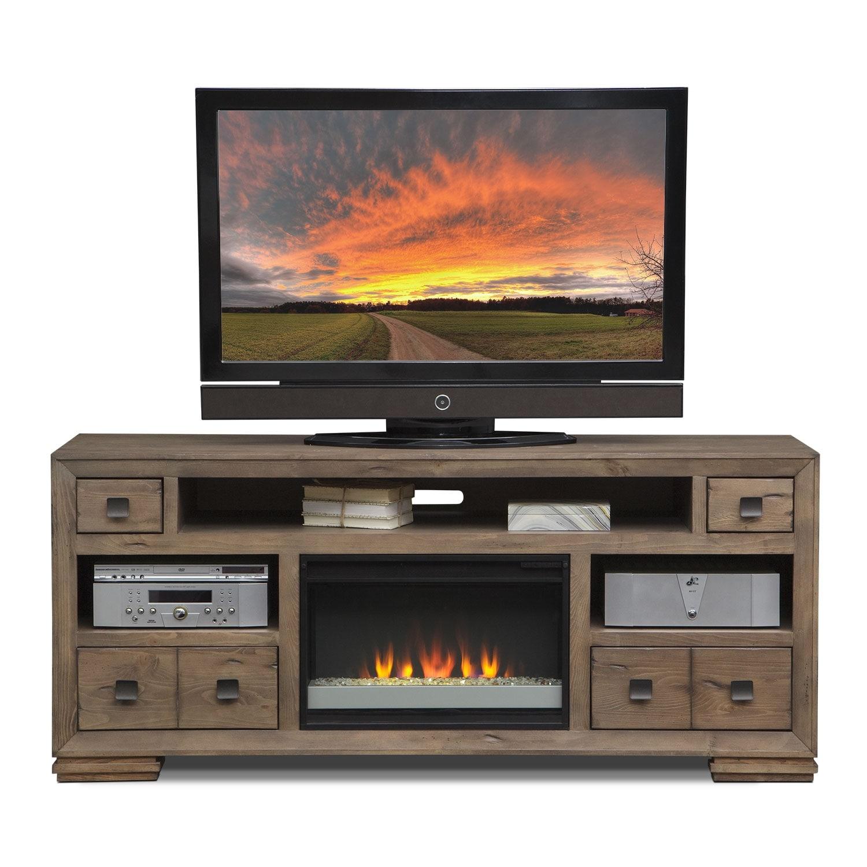 mesa 74 fireplace tv stand american signature furniture