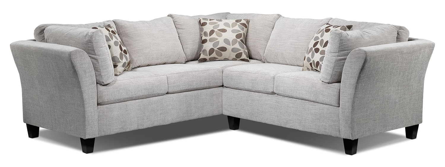 Bristol 2-Piece Sectional - Grey