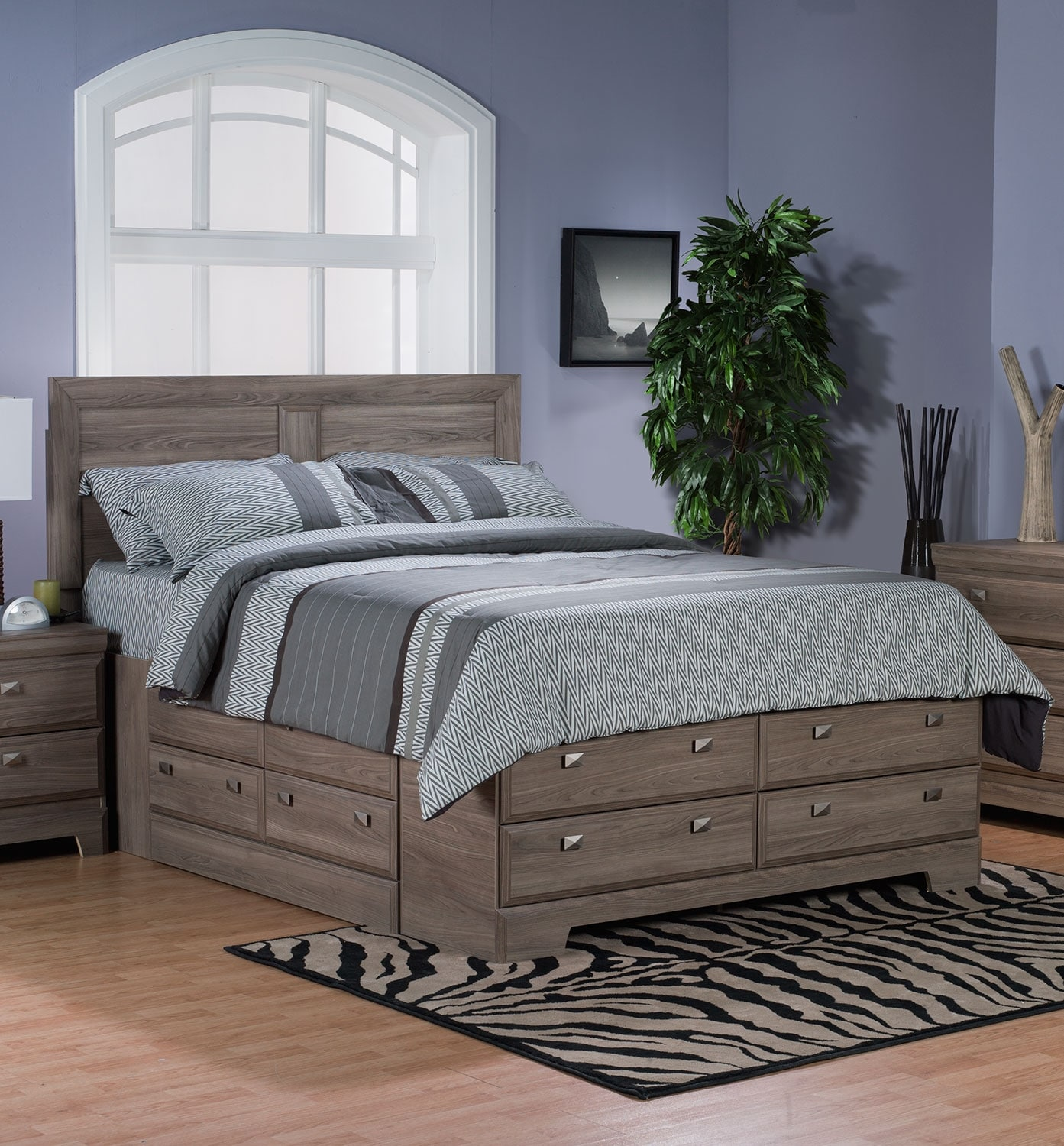 Bedroom Furniture - Yorkdale Light Full Storage Bed
