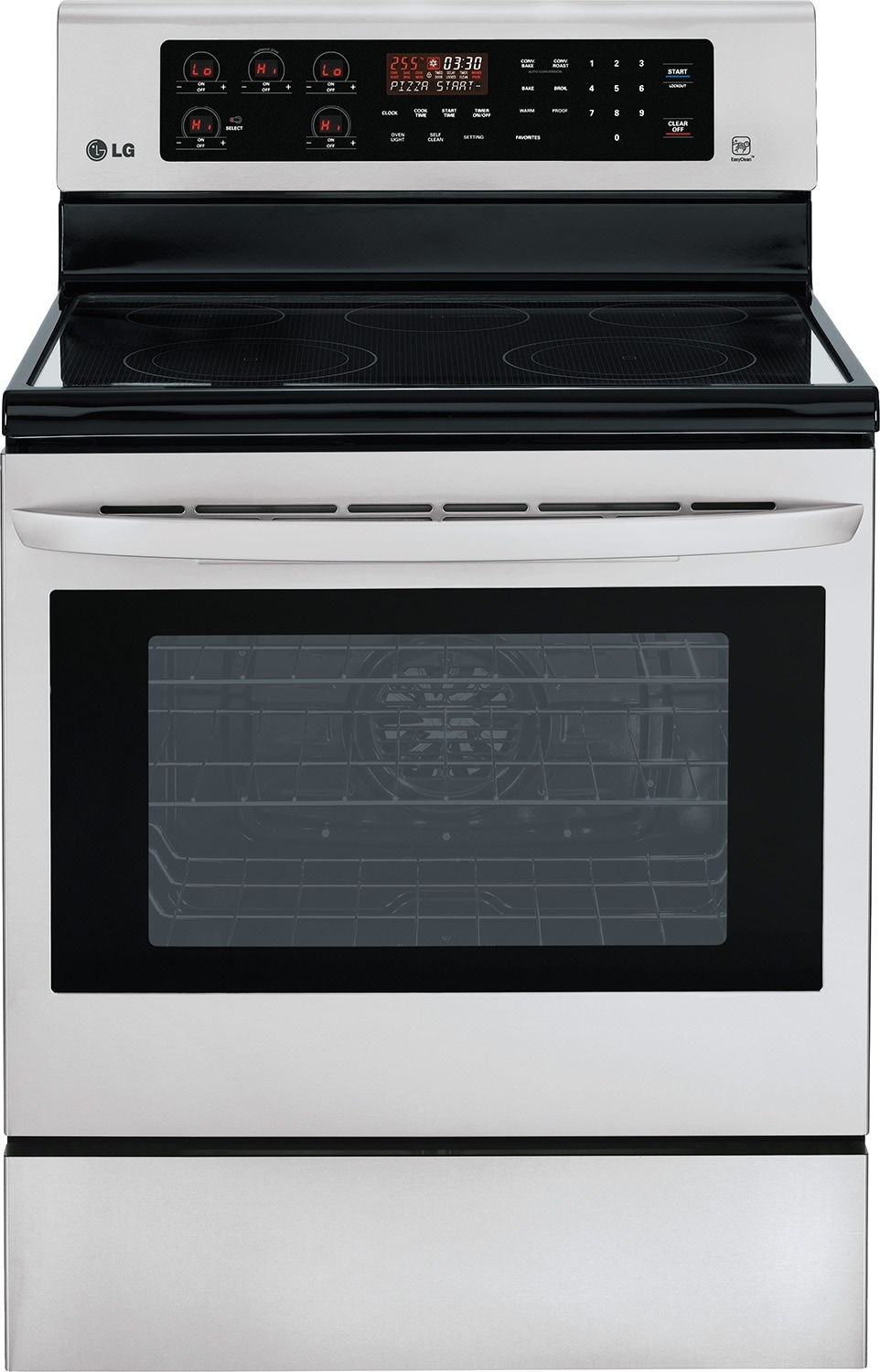 Cooking Products - LG 6.3 Cu. Ft. Freestanding Electric Convection Range - Stainless Steel