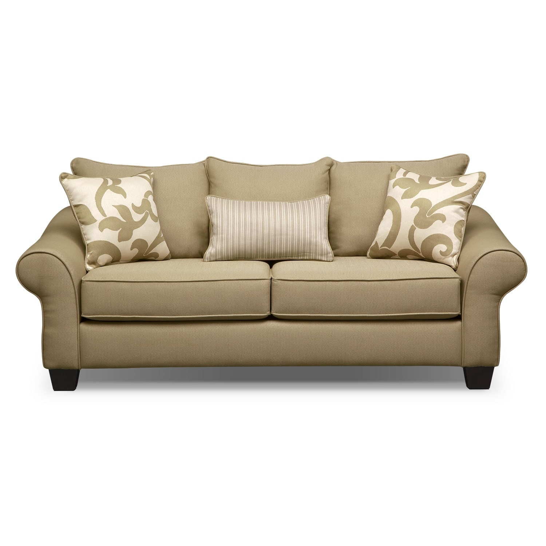 Colette Full Memory Foam Sleeper Sofa Khaki American