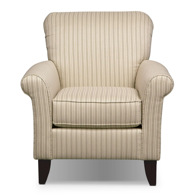 colette khaki accent chair value city furniture