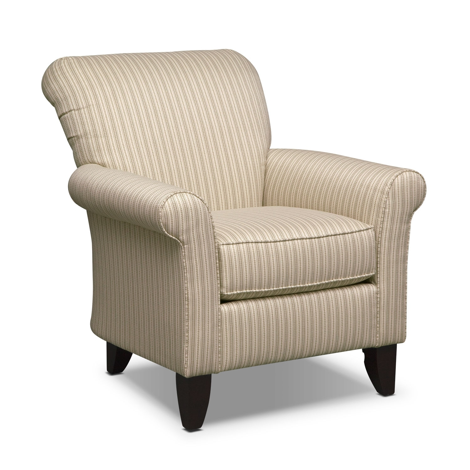 Living room furniture harlow khaki accent chair for Furniture chairs