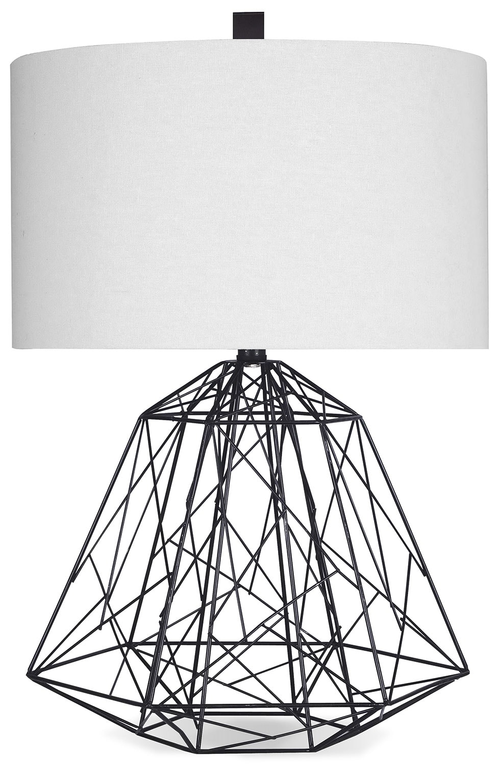 Home Accessories - Black Open Cage Table Lamp