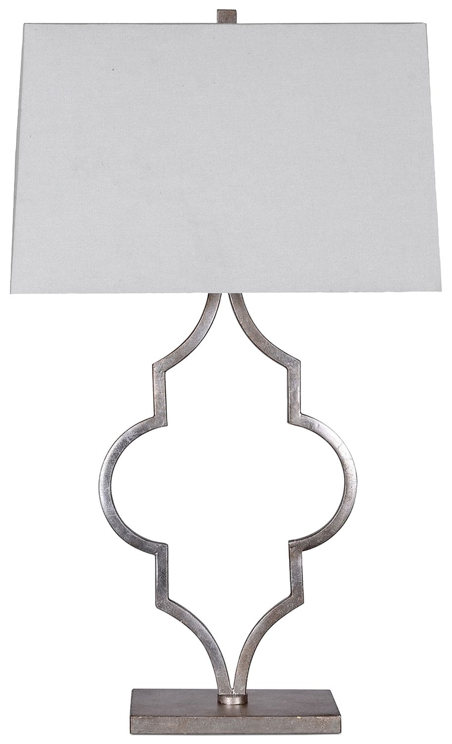 Silver Quatrefoil Table Lamp