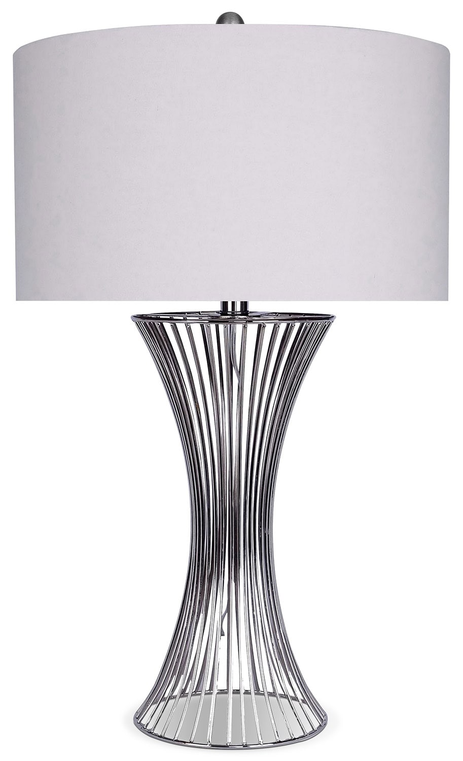 Home Accessories - Nickel Cage Table Lamp