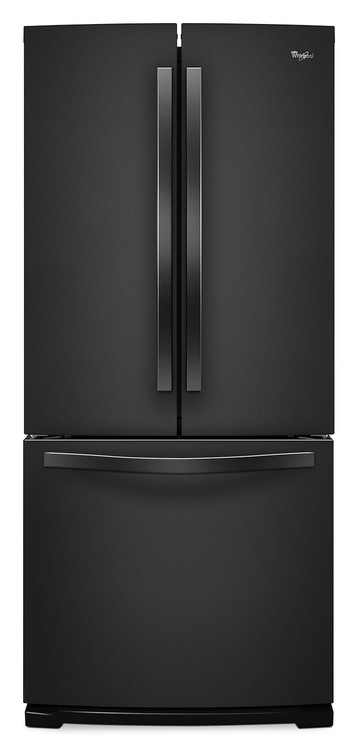 whirlpool black french door refrigerator 19 5 cu ft