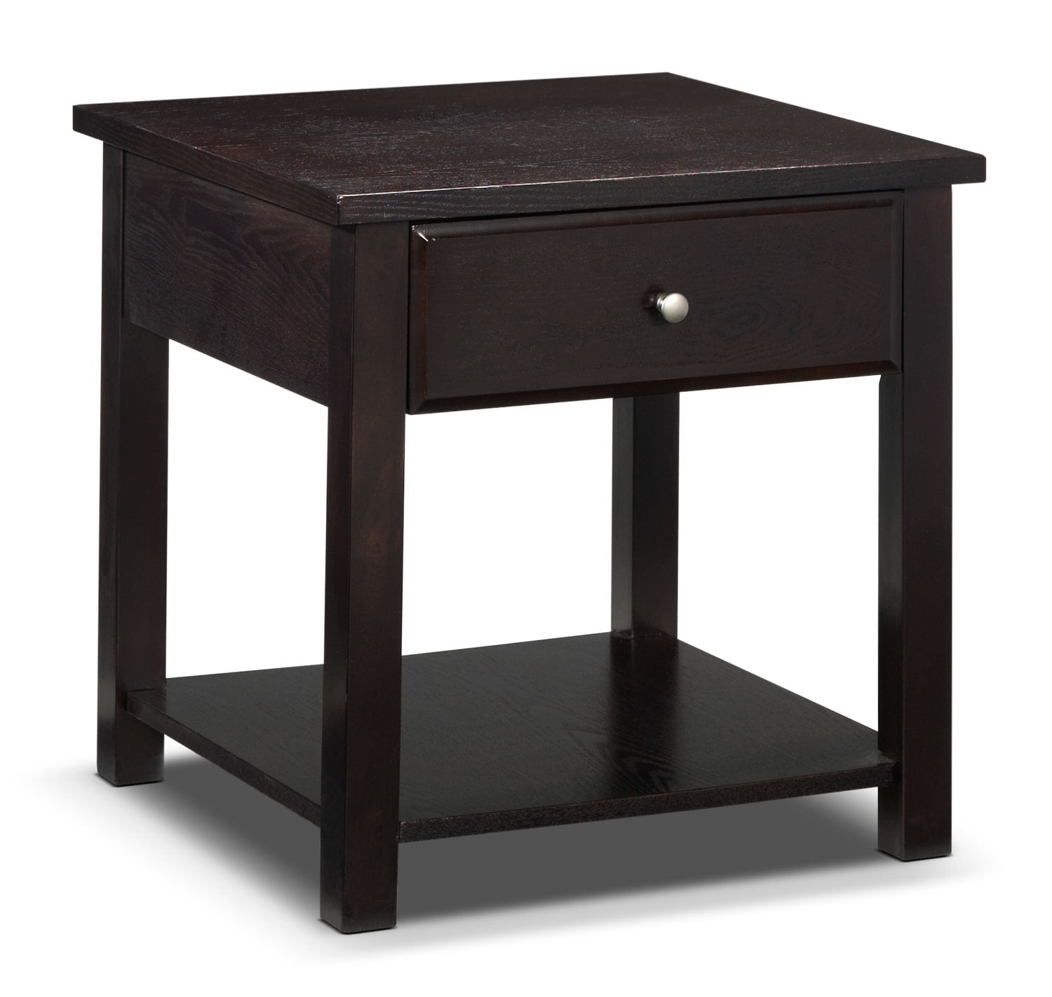 Ines End Table - Espresso