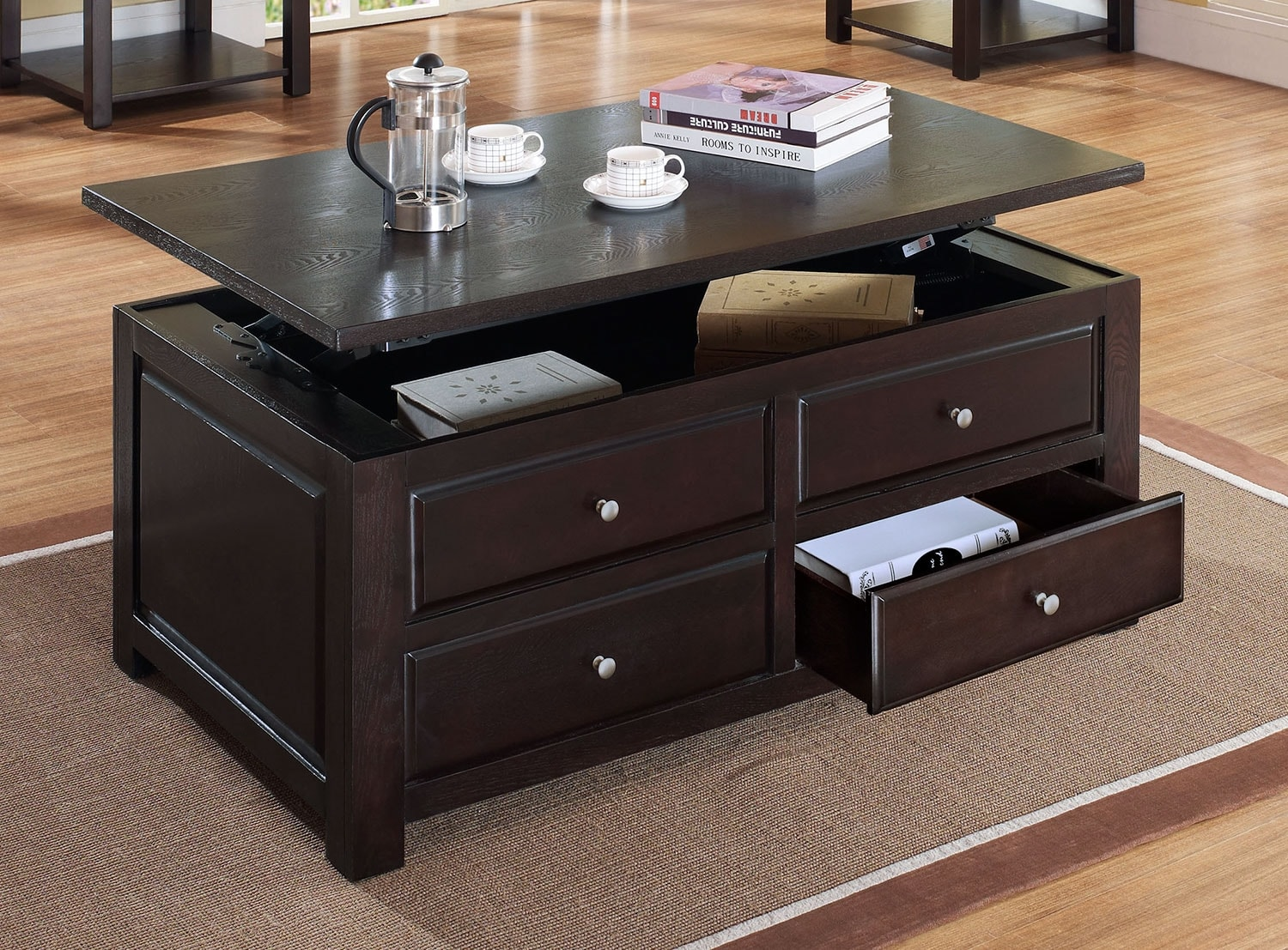 ines lift top coffee table leon 39 s. Black Bedroom Furniture Sets. Home Design Ideas