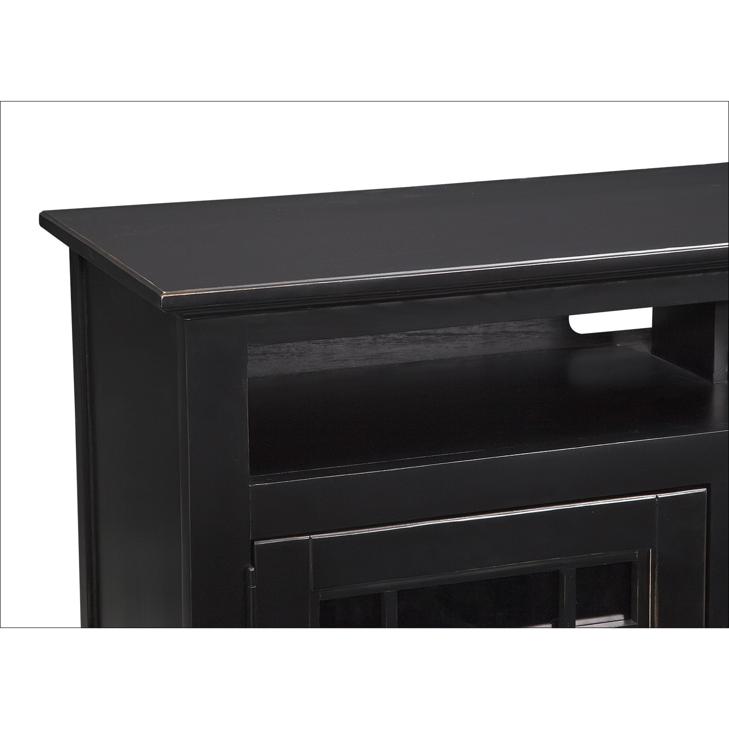 merrick 54 quot quot fireplace tv stand with contemporary insert