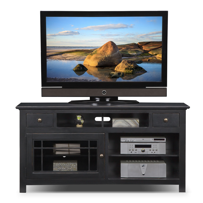 merrick black 64 tv stand american signature furniture