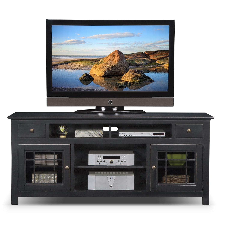 merrick 74 tv stand black american signature furniture