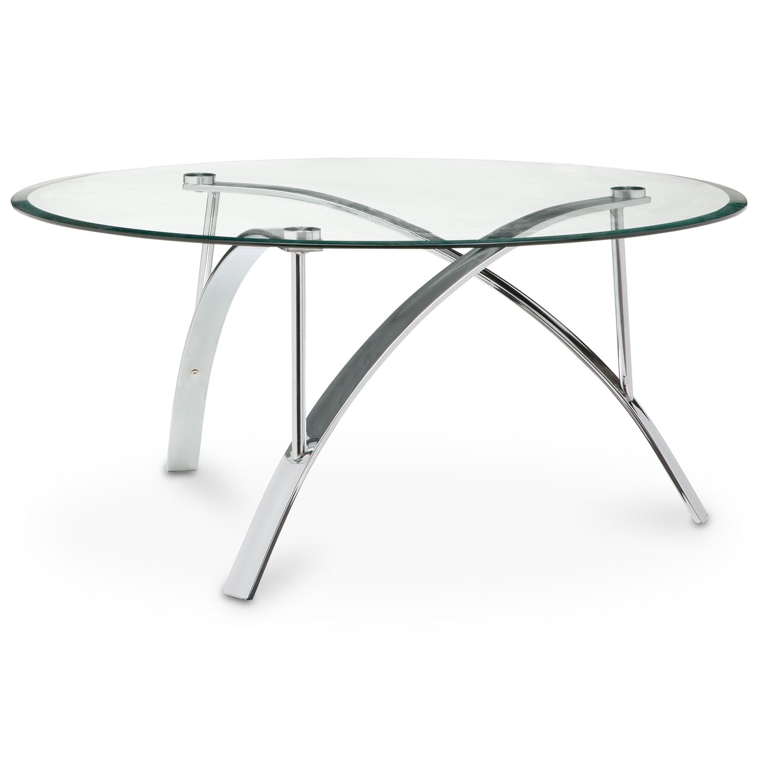 Mako cocktail table silver american signature furniture for Cocktail tables