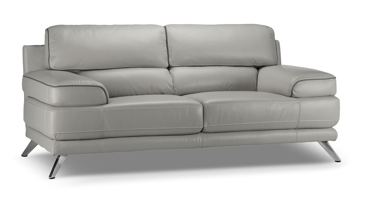 Living Room Furniture - Sutton Loveseat - Grey