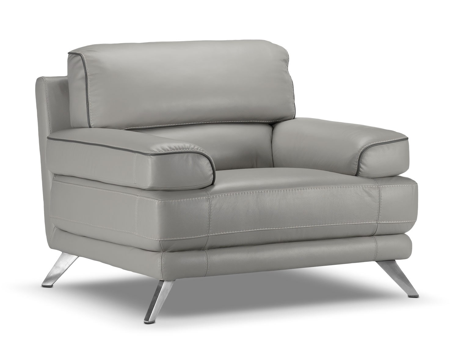 Living Room Furniture - Sutton Chair - Grey