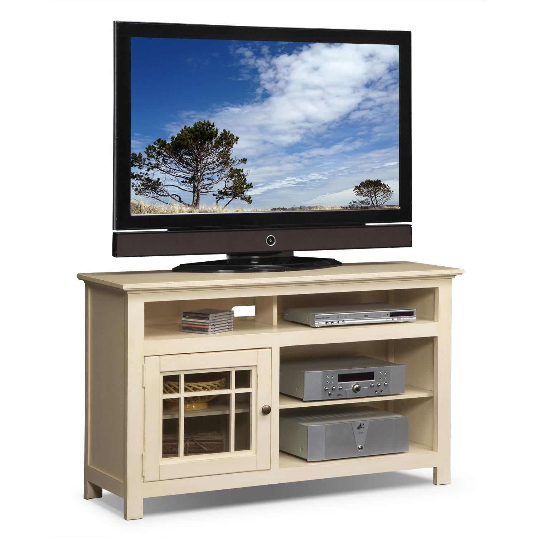 Merrick White 54 Quot Tv Stand Value City Furniture