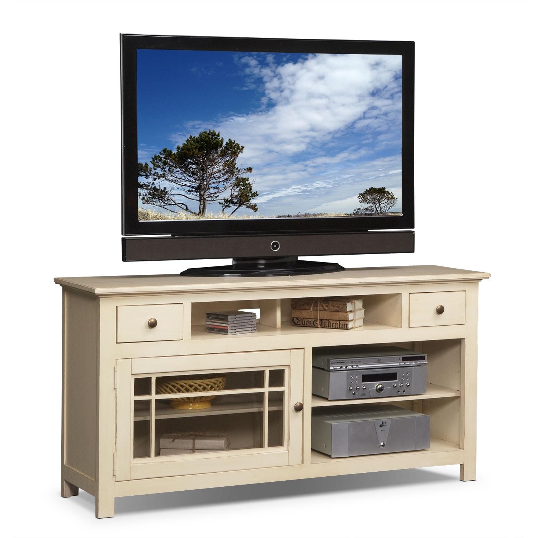 merrick white 64 tv stand american signature furniture