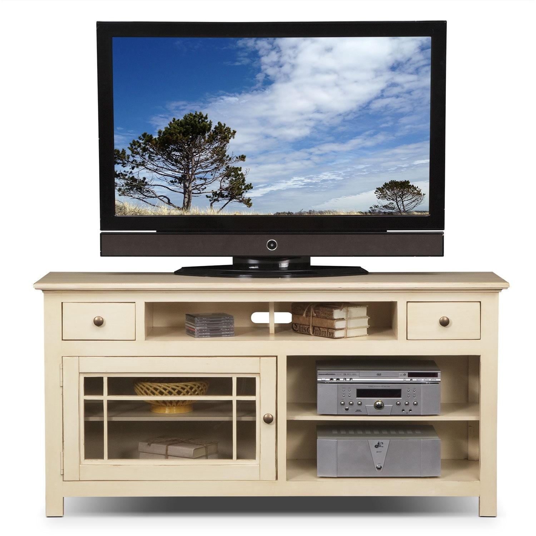 merrick 64 tv stand white american signature furniture