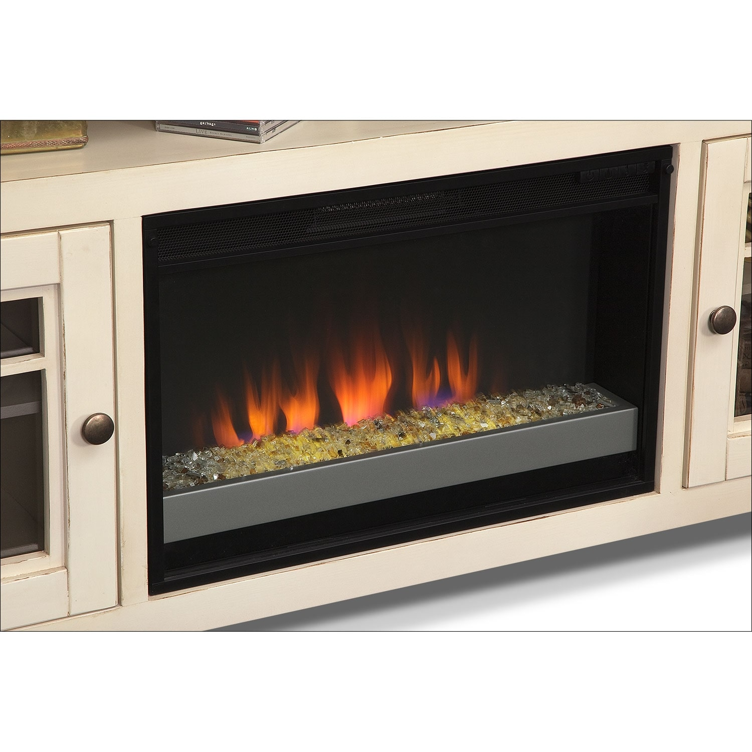 Merrick White 74 Quot Fireplace Tv Stand With Contemporary