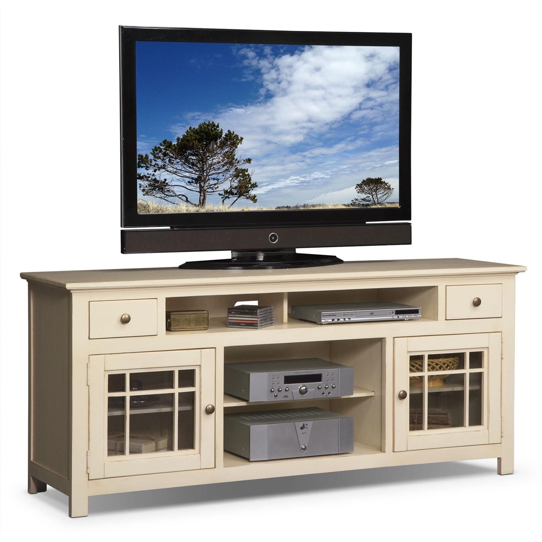 """[Merrick White 74"""" TV Stand]"""