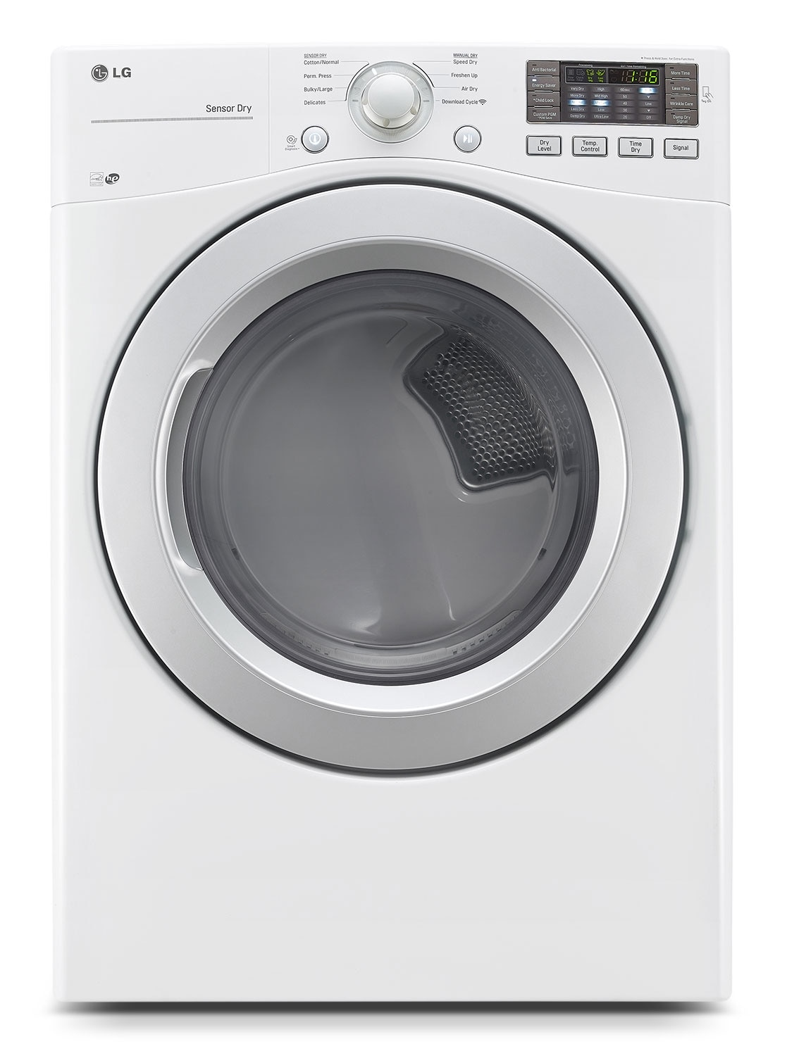 Washers and Dryers - LG Appliances White Gas Dryer (7.4 Cu. Ft.) - DLG3171W