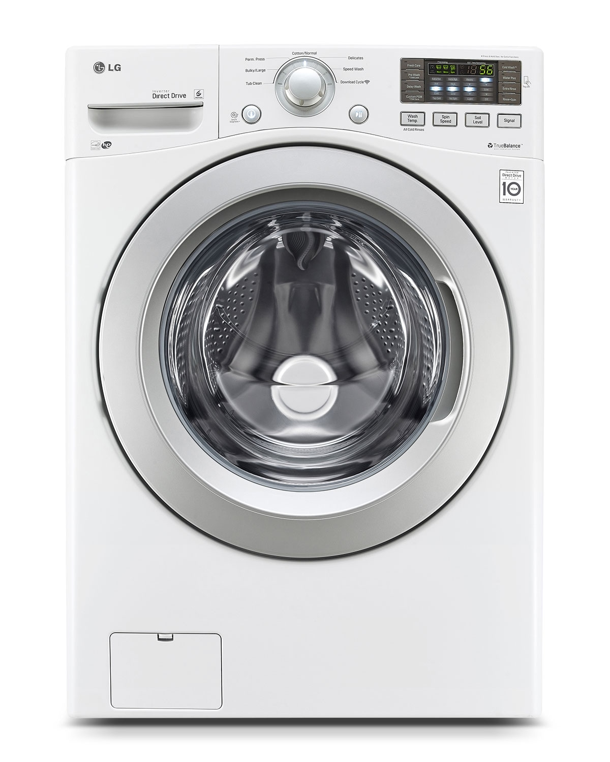 Washers and Dryers - LG Appliances White Front-Load Washer (5.0 Cu. Ft.) - WM3170CW