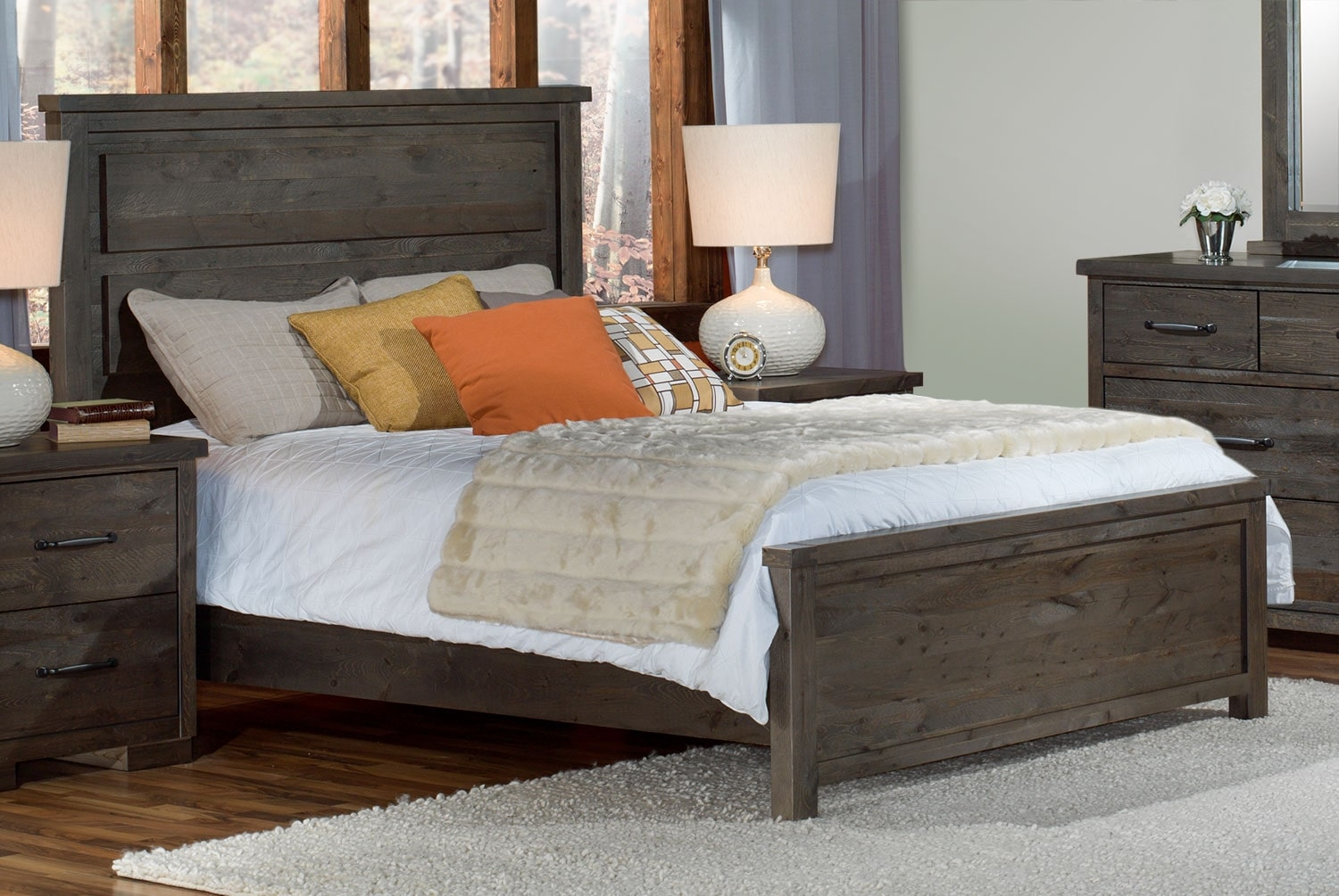 Pine Ridge 5 Piece King Bedroom Set Slate Leon S