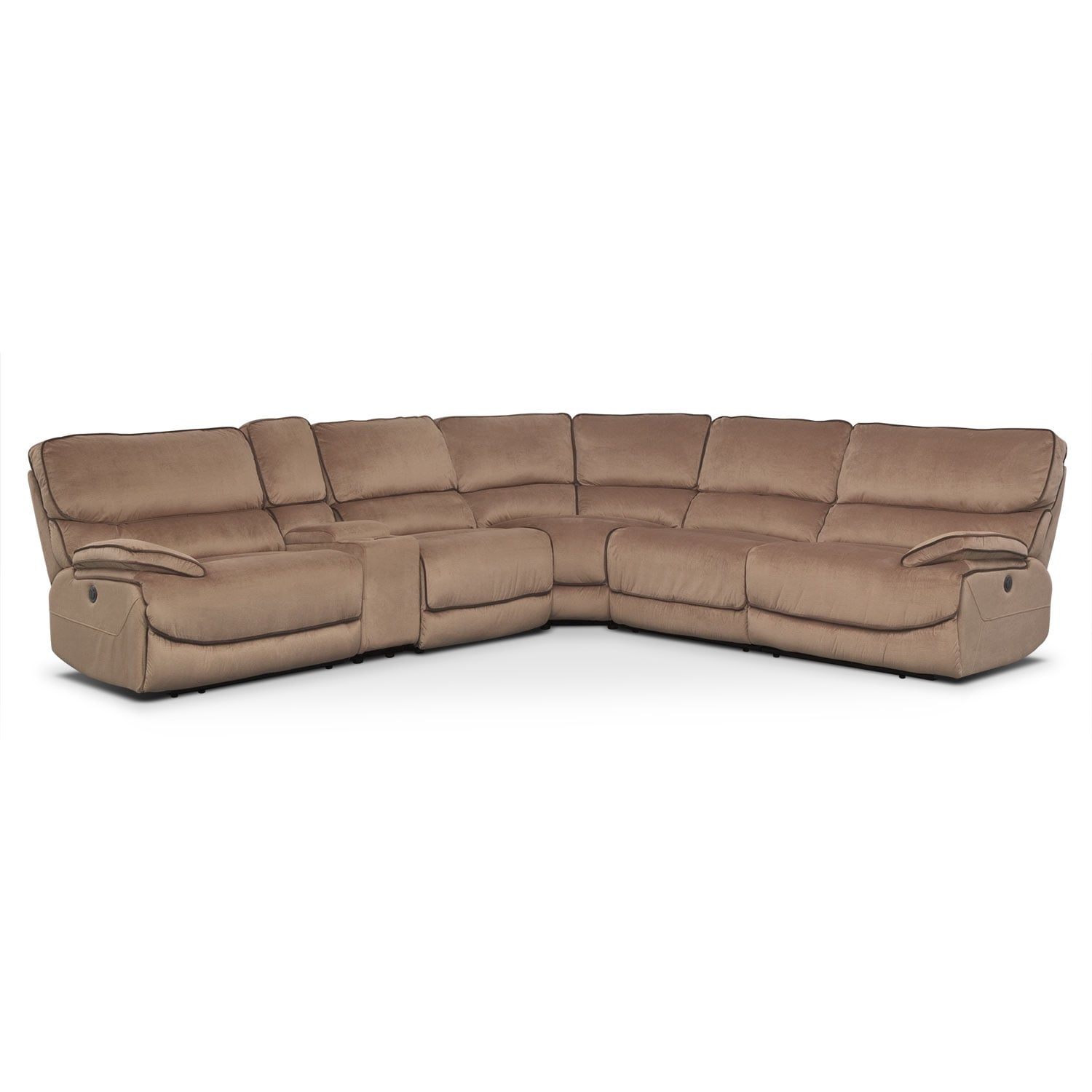 [Bandera Brown 6 Pc. Power Reclining Sectional]