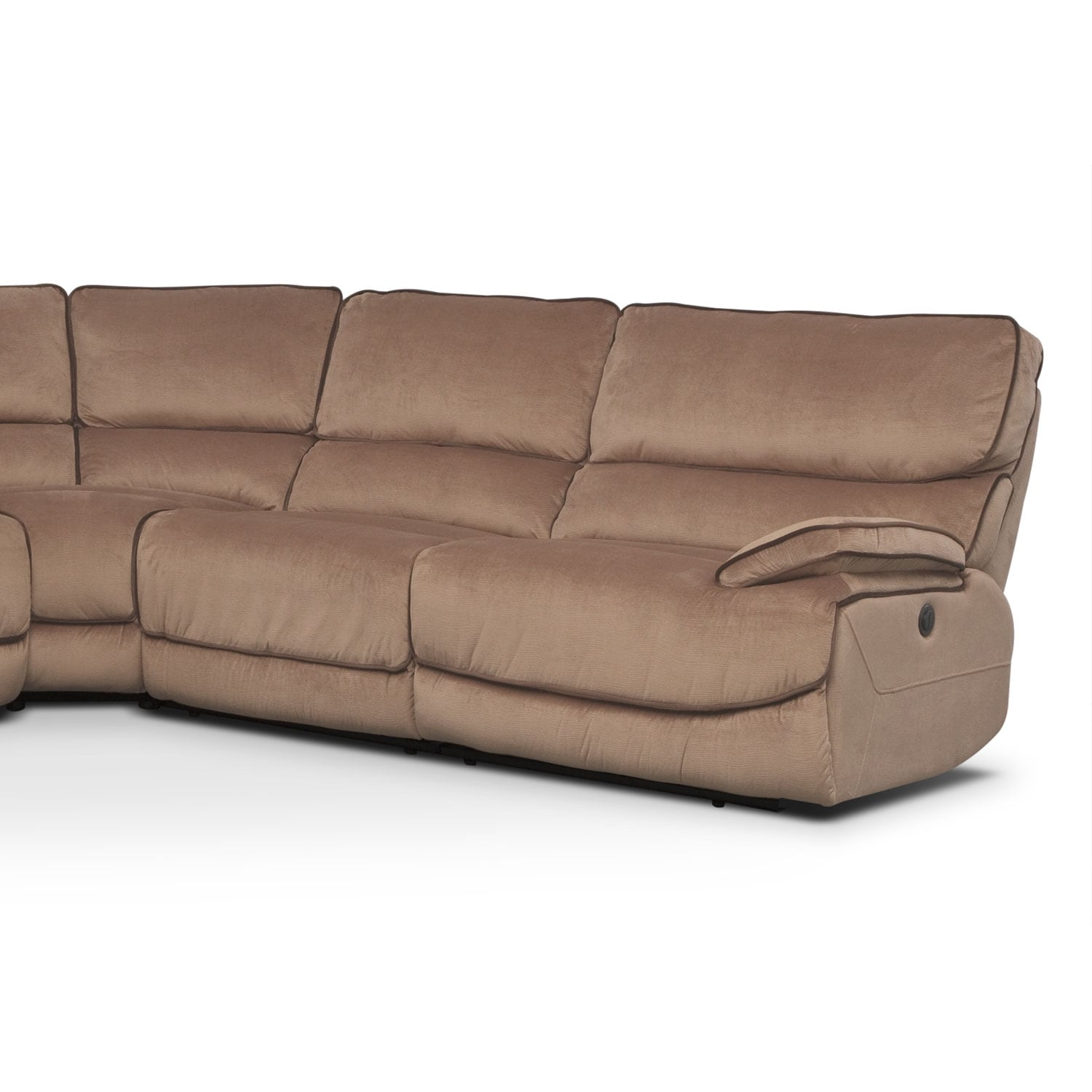 Encino Brown 6 Pc Power Reclining Sectional Alternate