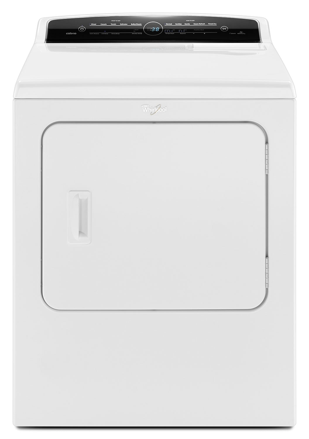Washers and Dryers - Whirlpool® Cabrio® 7.0 Cu. Ft. Electric Dryer - White