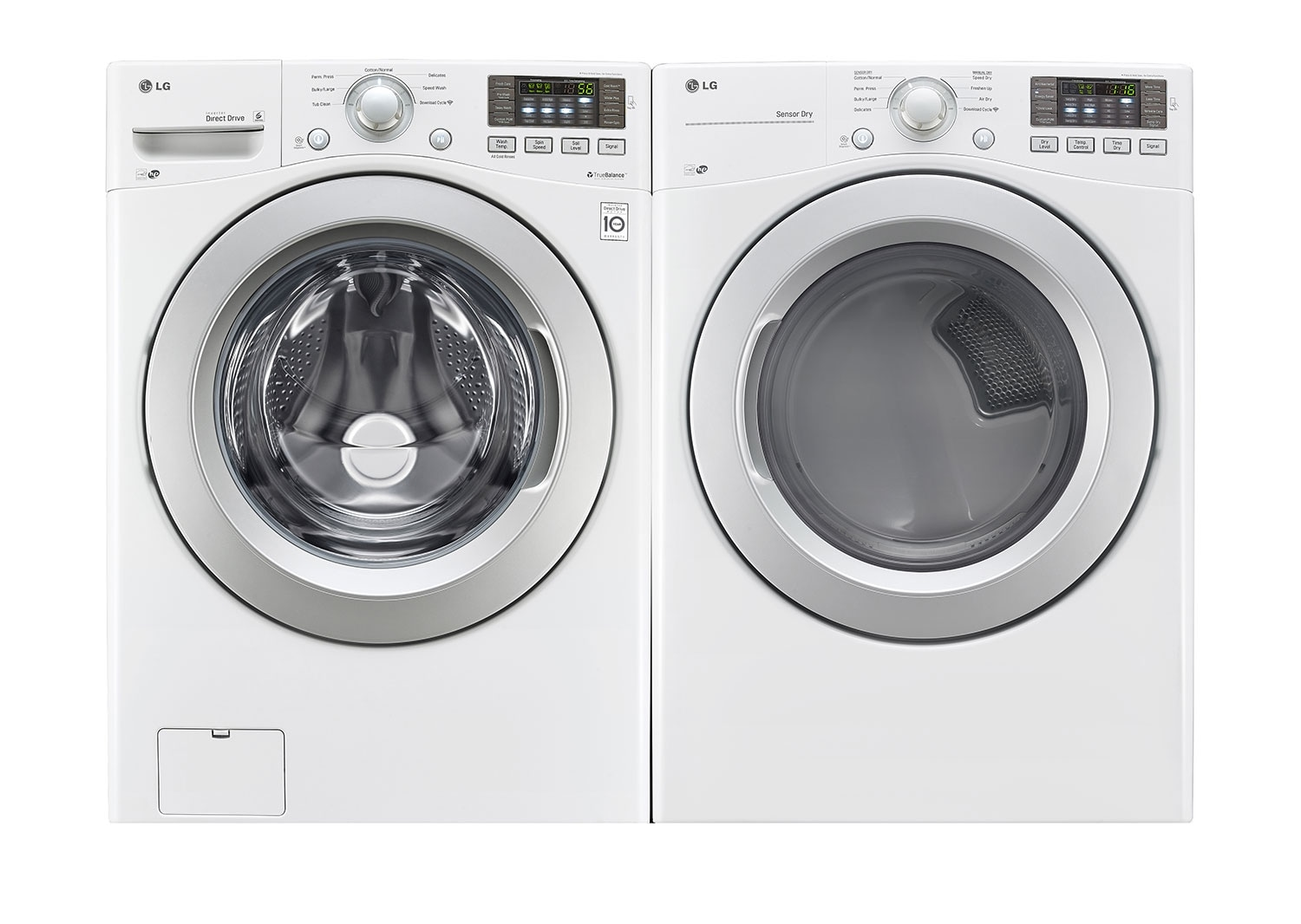 Washers and Dryers - LG 5.0 Cu. Ft. Front-Load Washer and 7.4 Cu. Ft. Electric Dryer