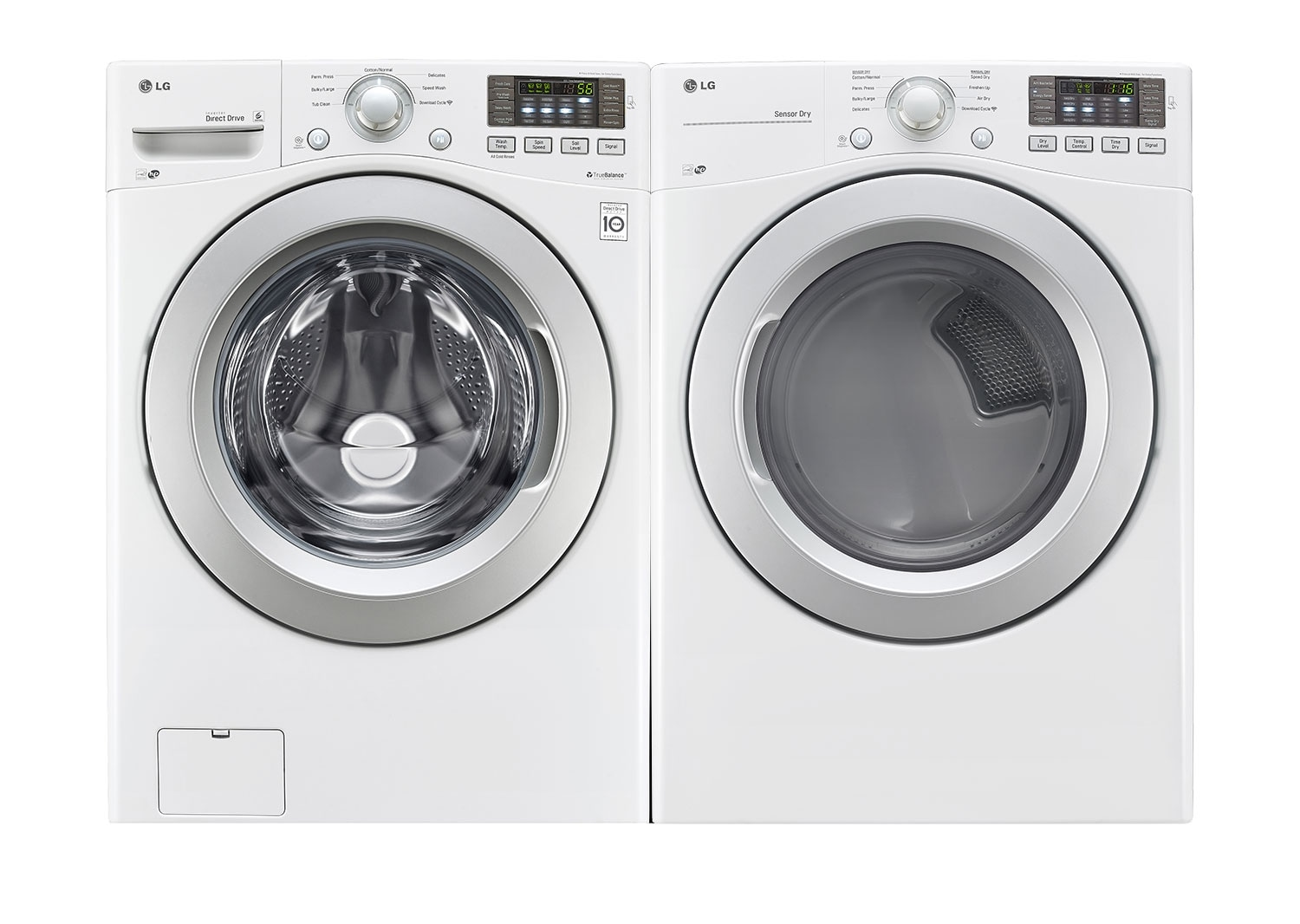 Washers and Dryers - LG 5.0 Cu. Ft. Front-Load Washer and 7.4 Cu. Ft. Gas Dryer